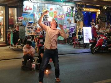Street Busker at Bun Vien