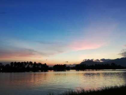 sunset at the secret lake